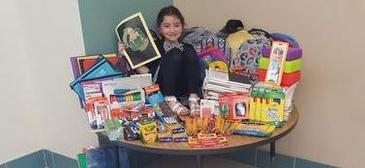 Grimshaw Third-Grader Helping Her Friends and Community